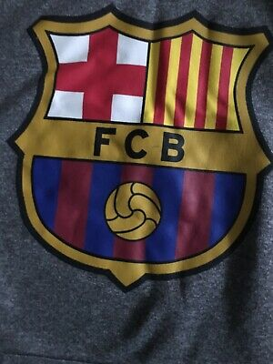 Boys FCB Gray Pullover Hoodie ⚽️ Soccer Large Very Soft EUC Mes Que In Club 1899