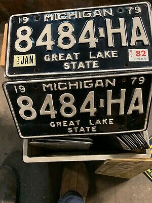 Michigan License Plates. Motor City ,Gret Lakes State. Pr. 8484- HA  Truck .