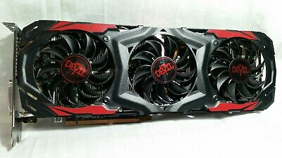 POWERCOLOR RED DEVIL AMD Radeon RX 570 4GB DDR5 Bios Modded Super Clean