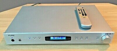 Pure DRX-701ES DAB Digital HiFi tuner Silver with remote control and manual