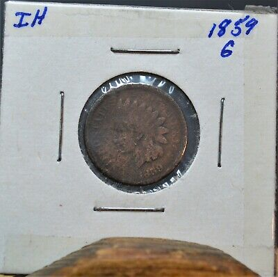 A Lot Of (3) 1859,1860,1862 Indian head penny/ cent one each Graded G