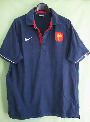 top fashion new arrival cheap price POLO EQUIPE DE France Rugby maillot Nike vintage Coton ...