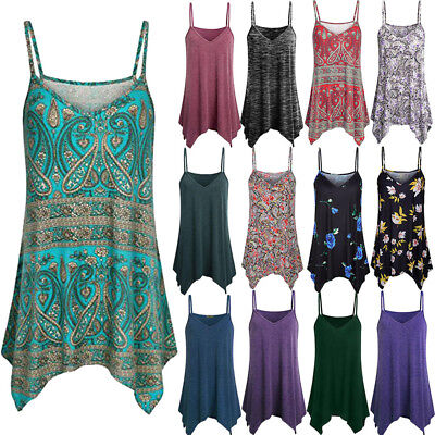 0d6e33d90ab79 Comely Boho Women Lady Cami Vest Swing Camisole Sleeveless Tank Top Plus  Size US