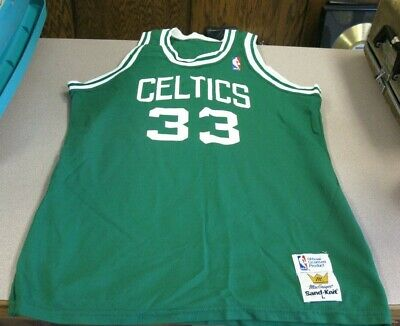 buy online 208b1 df381 Vintage Larry Bird Boston Celtics 80s Sand Knit NBA Jersey Size LARGE  MacGregor
