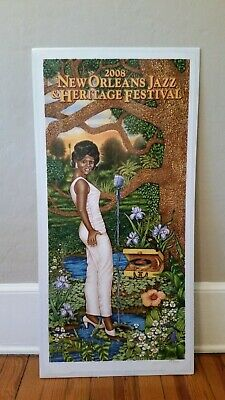 New Orleans Jazz Festival Poster Irma Thomas 2008 unsigned artist-D.Bourgeois