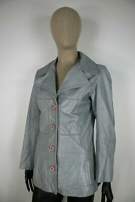 CAPPOTTO AREA PELLE/LEATHER Giubbotto Jacket Giacca Tg M Donna Woman C