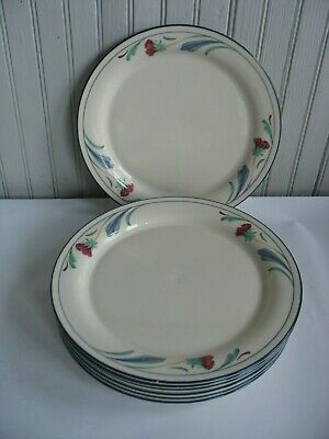 Lenox Poppies On Blue Set of 10 Dinner Plates 10-1/2""