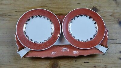 Vintage Tuscan China Sandwich Set Hand Painted 7 Plates
