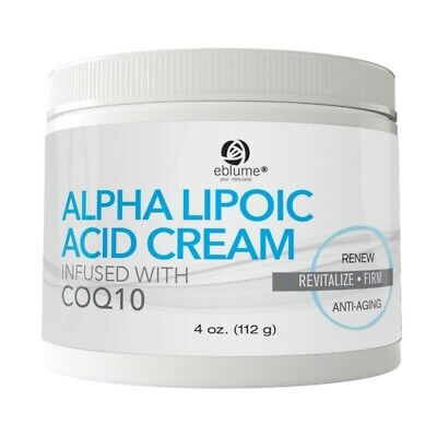 Eblume® Alpha Lipoic Acid Cream Infused with CoQ10, 4 oz.