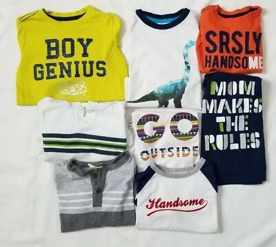 Lot of 8 Boys Toddler Crazy 8 shirts size 2t