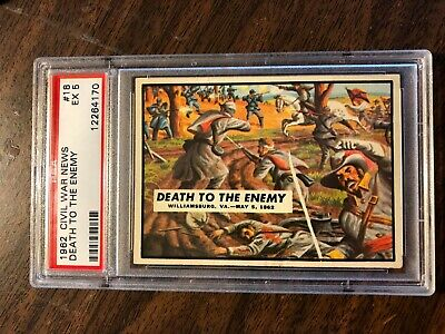 1962 Topps Civil War News #18 'death To The Enemy' Card Psa 5