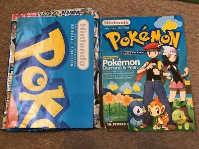 Nintendo Official Magazine Pokemon Diamond & Pearl August 2007 With Poster