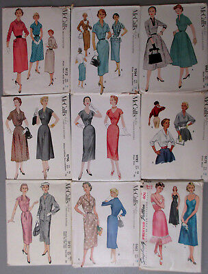 Vintage McCall's Simplicity 50's Sewing Patterns Lot of 9 Uncut FF