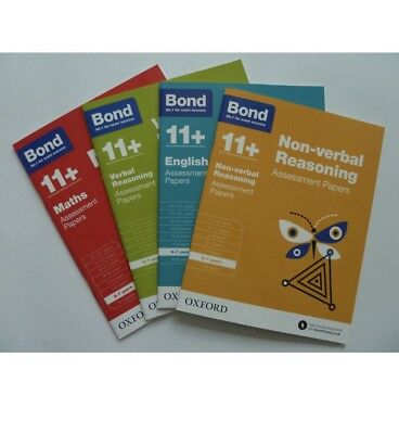 Bond 11+ Assessment Papers Age 6-7 English Maths Verbal & Non Verbal reasoning