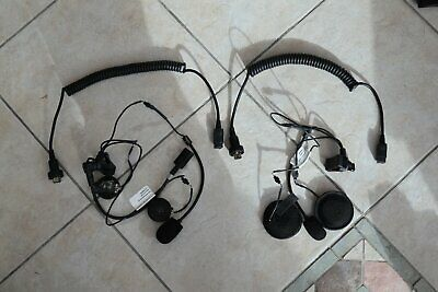 honda gl1800 goldwing J&M headsets HS-BCD279-UN + P style lower hook up cords