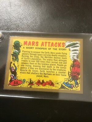 SUPER RARE 2012 TOPPS MARS ATTACKS HERITAGE # 55 CHECKLIST GOLD CARD 1 of 50