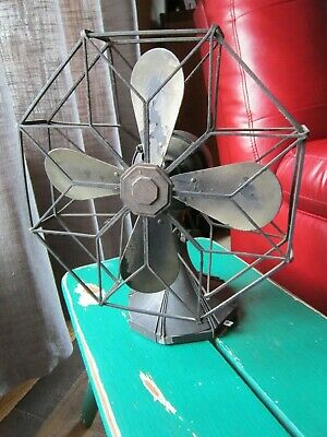 Vtg Oscillating Westinghouse Fan With Art Deco Octagonal Cage Restore