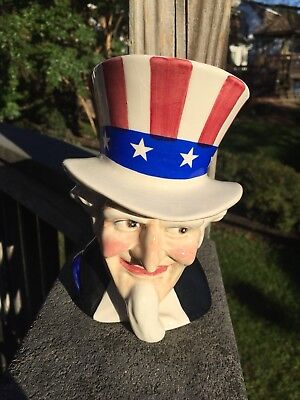 Vintage SYLVAC UNCLE SAM Toby Character Jug - nice but crazing