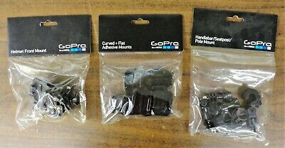 GoPro Curved + Flat, Handlebar & Helmet Front Mounts Brand New Free Shipping