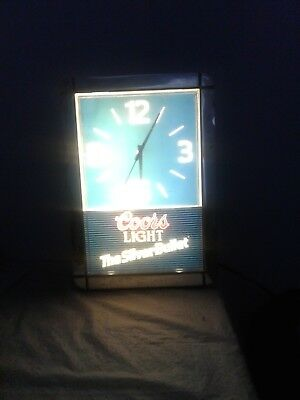 Vintage 80's Coors Light the Silver Billet lighted wall clock
