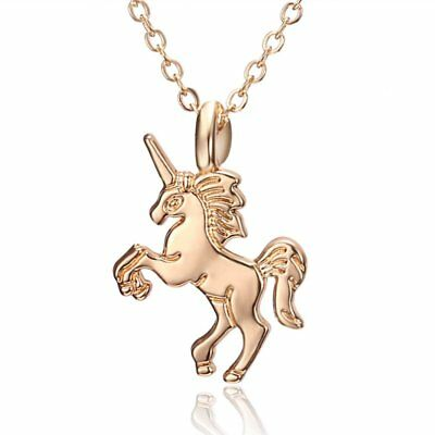 Unisex Lovely Men Women Gold Animal Horse Pendant Necklace Chain Cute Jewelry