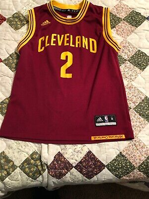c77adaf67e7 Adidas Kyrie Irving  2 Cleveland Cavaliers Jersey Youth Medium 10-12 Wine    Gold