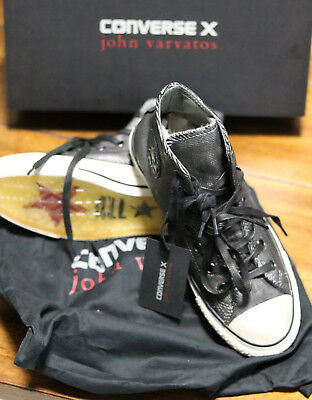 ae707fb10fb8 Converse John Varvatos Chuck Taylor Sneakers Painted Shine Black Silver  150175C