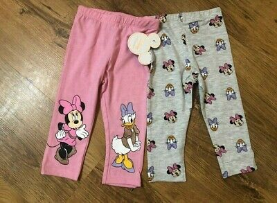 Primark Girls Disney Pk 2 Leggings, Minnie And Daisy Bnwt All Ages