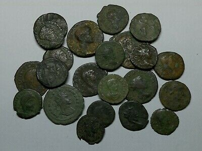 Ancient Roman Imperial / Late Imperial Bronze Coins LOT16 - 27 pieces SEE PICS!
