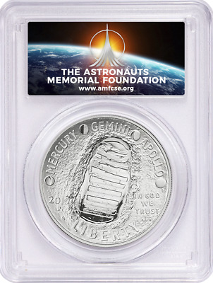 2019-P Apollo 11 50th Ann Commem Silver Dollar PCGS MS70 First Strike AMF LABEL