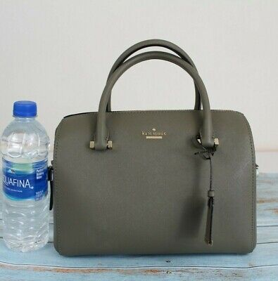 NWT Kate Spade New York Cameron Street Saffiano Leather Satchel Olive Green