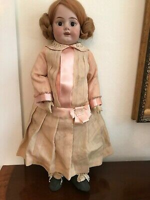"Victorian German French Bisque Head Compo Body 21"" Doll Number 8"