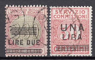 (602-12) Italy Used Ovpt Due Classics