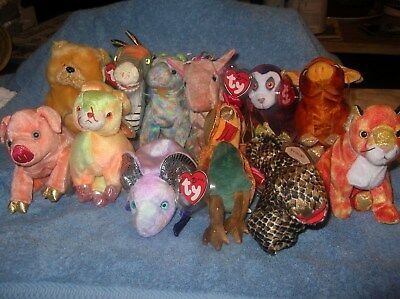 118a1896d46 TY BEANIE BABIES - ZODIAC ( Set of all 12 ) BRAND NEW We have extra ...