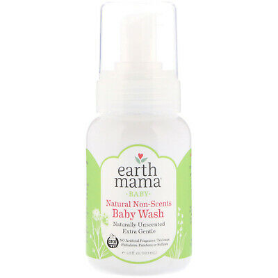 Baby, Natural Non-Scents Baby Wash, Unscented, 5.3 fl oz (160 ml) - Earth Mama