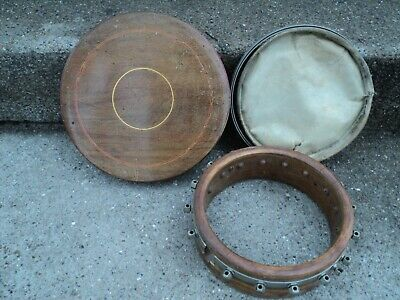 Vintage Banjo Parts Resonator Back 16 lug Pot Head Ring For parts only
