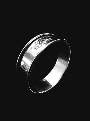 Reed & Barton Sterling Silver Classic Rose 🌹  Napkin Ring - 4 available