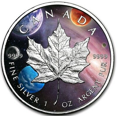 2019 1 Oz Silver Canada $5 MILKY WAY MAPLE LEAF Coin..