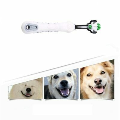 Cleaning Dog Three Sided Pet Toothbrush Teeth Care Brush Cat