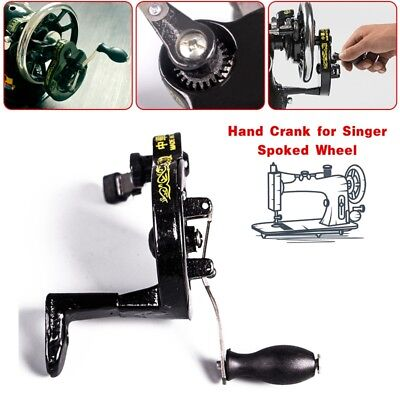 Hand Crank for Singer Spoked Wheel Treadle Sewing Machines 15,127,128,66,99