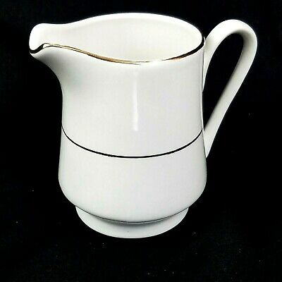 Gibson Everyday Housewares White Cream Pitcher With Gold Trim Replacement