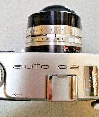 Konica Auto S2 Rangefinder 35mm Camera in Hard Shell Case - Parts or Repair