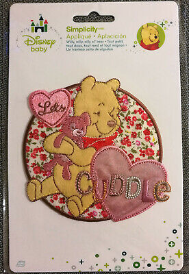 @disney Baby Pooh Let's Cuddle Embroidered Iron-On/sew Applique/ Cloth Patch@nip