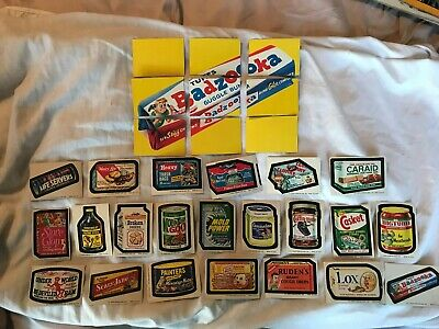 1974 Wacky Packages 10th Series Complete puzzle + 22 different tan-back stickers