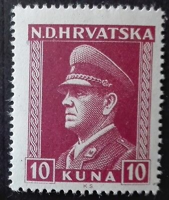 CROATIA-CHORWACJA MNH - Ante Pavelic with Different Perforations, 1943, **, 10K