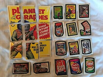 Wacky Packages 11th Series Complete puzzle + 14 different tan-back stickers