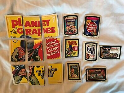 Wacky Packages 11th Series Complete puzzle + 7 different tan-back stickers