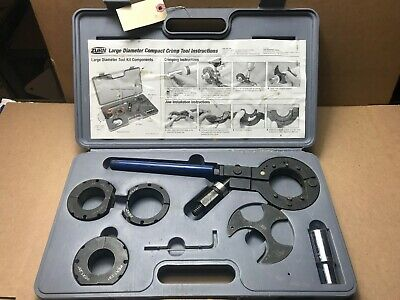 "ZURN Large Diameter Compact Crimping Tool Kit PEX 1.25"", 1.5"", 2"" Heads"