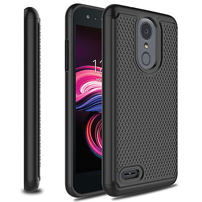 For LG Aristo 3/Tribute Empire Hybrid Shockproof Rubber Armor Phone Case Cover