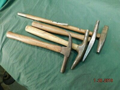 Vintage Hammer @ 4 Collectible Hammers 2@ Osborne+2 Misc Good User Antique Tool